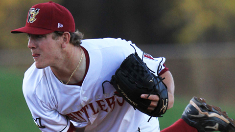 Drew Gagnon leads the Midwest League with a 0.64 ERA.