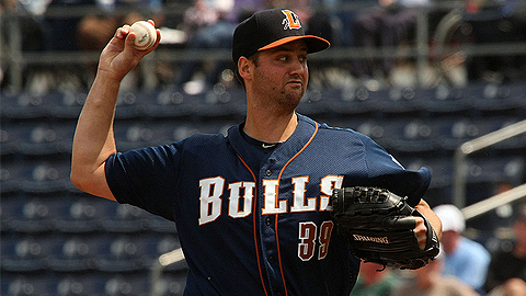Matt Torra threw 89 pitches over eight one-hit frames on Monday.
