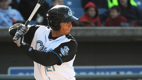 Carlos Rivero - now 10 for his last 20 - had two hits on Wednesday.