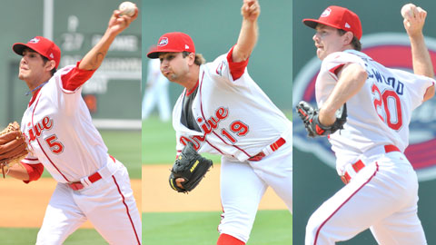 Pena, Cervenka and Lockwood combined to strikeout 14 batters.