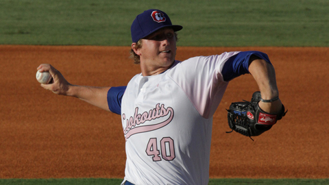Ethan Martin has gone 4-0 with a 2.81 ERA through seven starts this season.