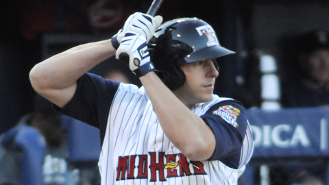Brad Eldred leads the Minor Leagues with 41 RBIs in 26 games.