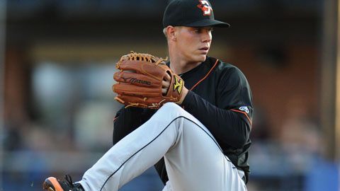 Dylan Bundy has 36 strikeouts and two walks in 25 innings with Delmarva.