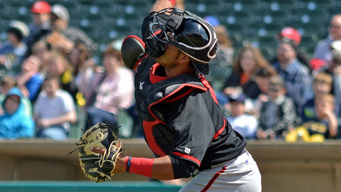 Carlos Perez started the first triple play in the Midwest League this year.