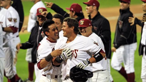 The Timber Rattlers are all smiles after Nick Ramirez delivered the game winning hit on Wednesday night.