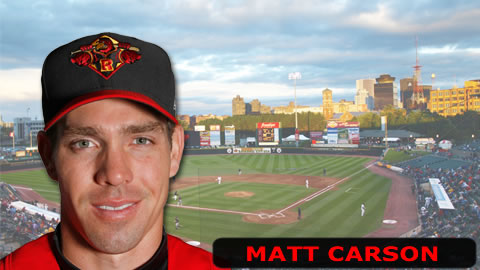 Matt Carson had a hit, a walk and 2 RBI.