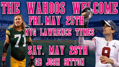NFL champs Lawrence Tynes & Josh Sitton will be on hand this weekend to throw out 1st pitches.