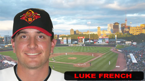 Luke French tossed 5 scoreless innings in game 1.