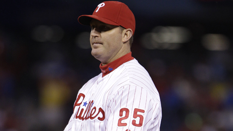 Jim Thome appeared in 12 games for the Phillies before his current DL stint.