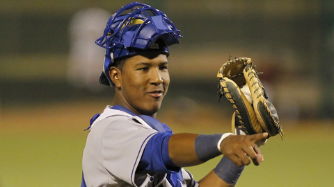 Salvador Perez batted .333 in 12 games for Omaha last season.