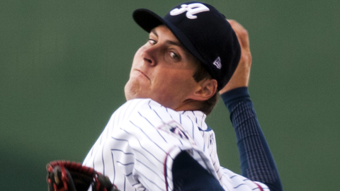 Trevor Bauer leads all Minor Leaguers with 102 strikeouts.