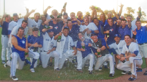 Dunedin secured the Florida State League's North Division first-half title Sunday.