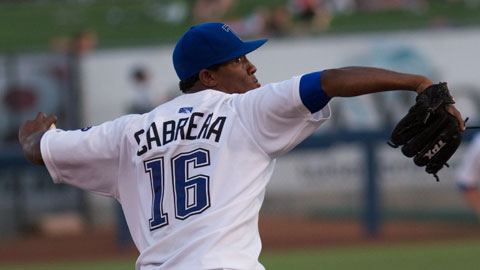 Tulsa starter Edwar Cabrera threw 7 innings of one-hit ball to lead the Drillers to a win on Monday night at ONEOK Field.