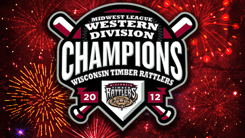 The Wisconsin Timber Rattlers clinched the first half Western Division Title with a 3-1 win in ten innings over the Clinton LumberKings on Tuesday night.