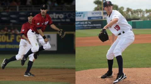 Manatees second baseman Shea Vucinich and relief pitcher Casey Medlen will be part of the North Division squad in this Saturday's 2012 Florida State League All-Star Game in Port Charlotte.