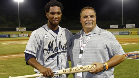 Mobile's Alfredo Marte was named the All-Game top star on Tuesday