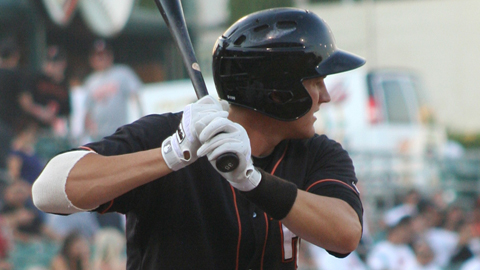 Brett Pill is hitting .350 with two homers and 10 RBIs in 14 PCL games.
