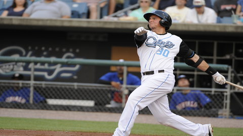 Chris Marrero collected two of Syracuse's fifteen hits on Monday night.