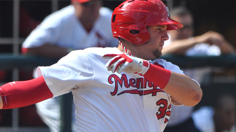 Matt Adams has 13 home runs and 36 RBIs for the Redbirds this season.