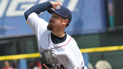 B.J. Rosenberg has pitched to a 1.74 ERA in 15 appearances with the IronPigs this season.