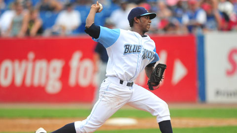 Elisaul Pimentel threw his first quality start in a Blue Rocks uniform.