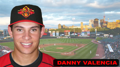 Danny Valencia's hit won the first game Sunday.