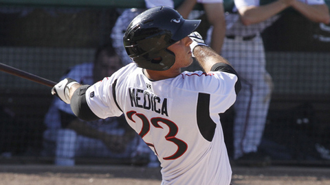 Tommy Medica has driven in 25 runs during his 25-game hitting streak.