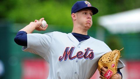 Zack Wheeler ranks second in the Eastern League with a 2.39 ERA.