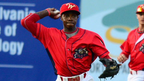 SS Roman Quinn went 3-for-5 and scored both runs in the Cutters 3-2 loss to Vermont Monday.