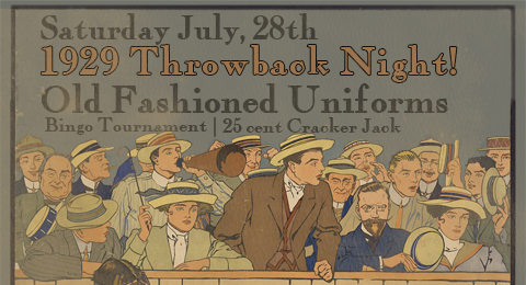 Join us on Saturday, July 28th for a very special 1929 throwback night in Dunedin