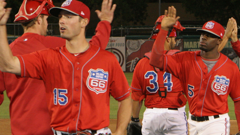 Dan Haren's start and Rolando Gomez HR finish helped the 66ers to the series win.