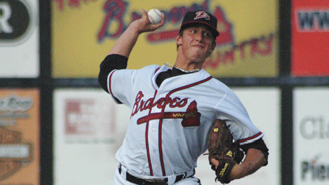 Lucas Sims tossed 2 1/3 scoreless innings in his debut with the D-Braves.