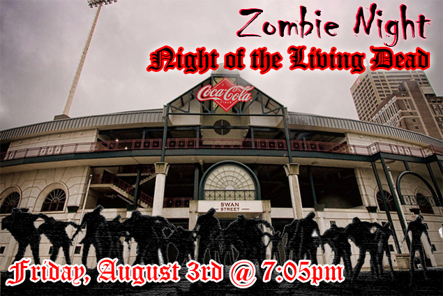 zombie night at coca cola field buffalo baseball