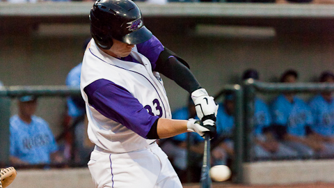 Cyle Hankerd has 13 homers in 30 games with the Dash.