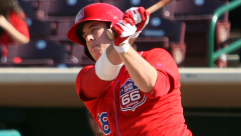 C.J. Cron ranks fifth in the California League with 18 homers.