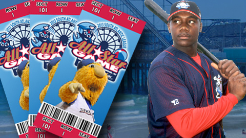 Ryan Howard represented the BlueClaws in the 2002 All-Star Game in Lakewood.