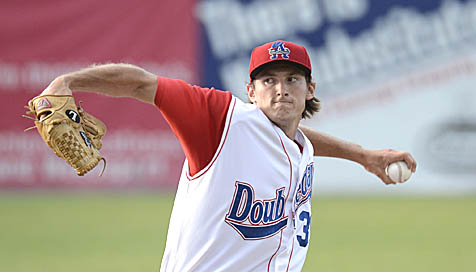 LHP Brett Mooneyham shutout the ValleyCats for six innings on Monday to earn his first professional win
