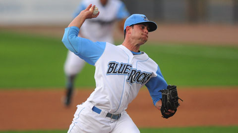 Andy Ferguson struck out eight Dash hitters over seven two-run innings, but was saddled with his second loss.