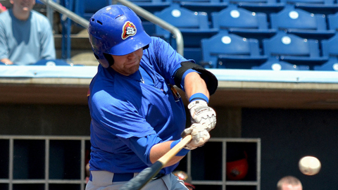 Dustin Geiger has 46 RBIs in 47 Midwest League games this year.