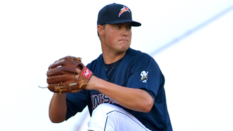 Jimmy Nelson is 1-1 with a 4.66 ERA in five starts for Double-A Huntsville.