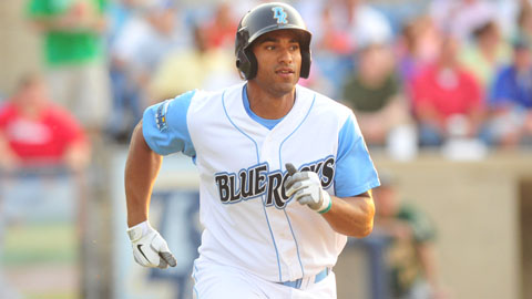 Matt Fields was named the Carolina League's Topps Player of the Month. Fields is only the eighth Blue Rock to receive the honor.