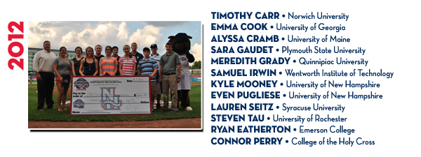 2012 Recipients