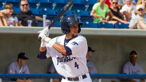 Billy Hamilton stole three more bases in the Blue Wahoos' 5-0 shutout win Wednesday.