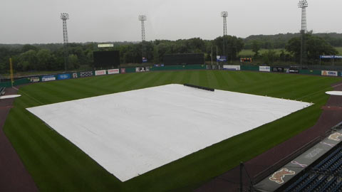 The Chiefs and Mud Hens were rained out Tuesday night.