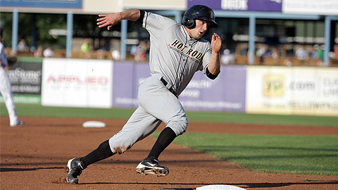 Ryan Brett, a third-round pick, ranks second in MWL stolen bases this year.