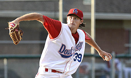 LHP Brett Mooneyham earned his second win of the season on Sunday by tossing six innings of one-hit ball