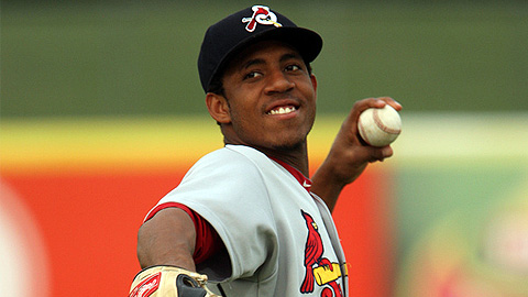 Oscar Taveras is batting .322 with 22 homers and 89 RBIs in 118 games.