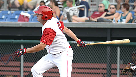 1B Shawn Pleffner went 3-4 on Monday including hitting a solo homerun in the sixth
