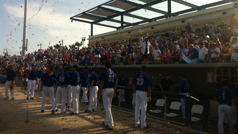 The Blue Wahoos sold out their 40th game of 2012 in their season finale.