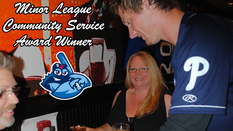 Kleven is seen here at the annual ALS Celebrity Waiter Event in May at TGI Friday's of Brick.